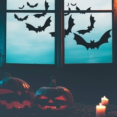 Halloween window decoration