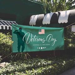 Outdoor veterans day sign