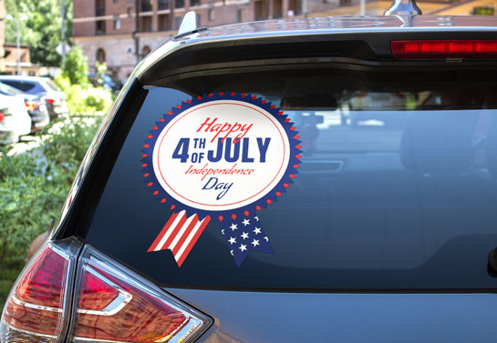 4th of July celebration car decor idea
