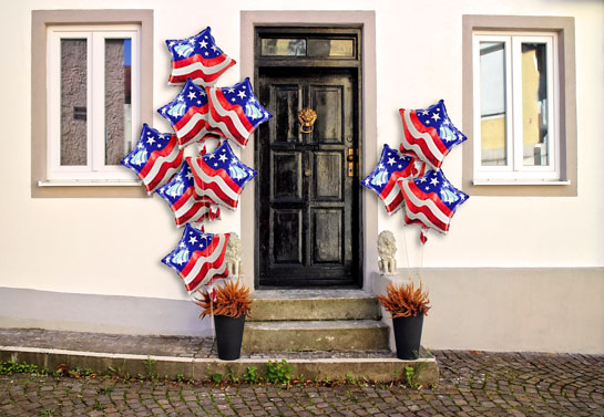 patriotic front door decorative balloons