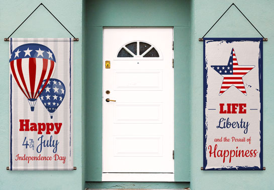 Happy 4th of July front door decor idea