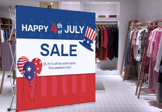Happy 4th of July Sale huge retail decor