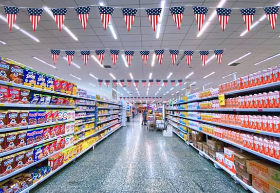 patriotic decorative retail food display decorations