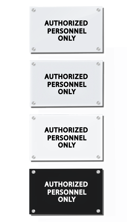 Acrylic Signs Buying Options