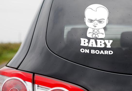 Baby On Board rear window decal idea