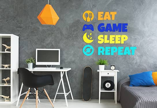 humorous wall decal for bedroom