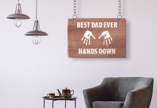 Best Dad Ever Father's Day wooden gift idea