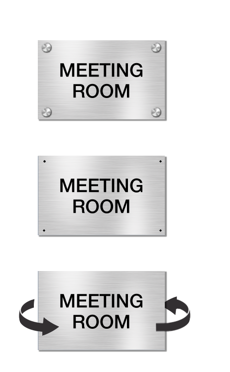 Brushed Aluminum Signs Buying Options