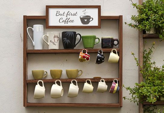 home office decor practical tip using coffee wooden sign
