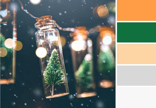 Trendy color palette for Christmas decorations