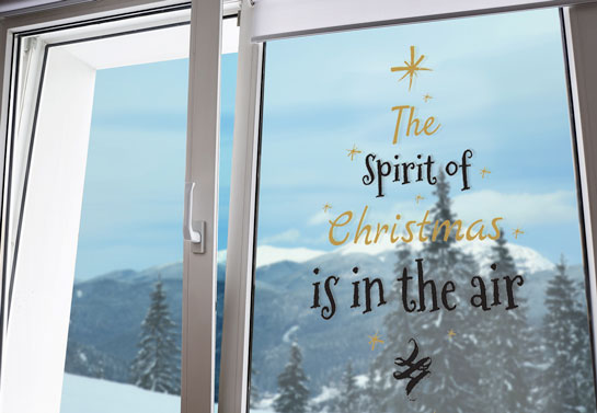 Christmas quote decal for decorating windows