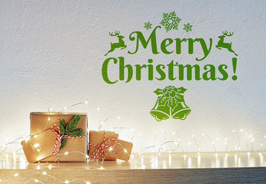 Merry Christmas decoration idea for office walls