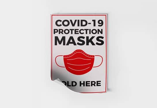 Covid-19 Protection Masks signage