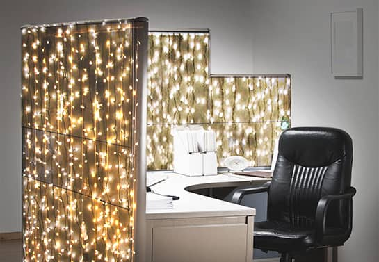 Christmas cubicle decorating ideas with lights