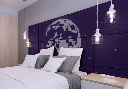 galaxy print DIY bedroom decor project