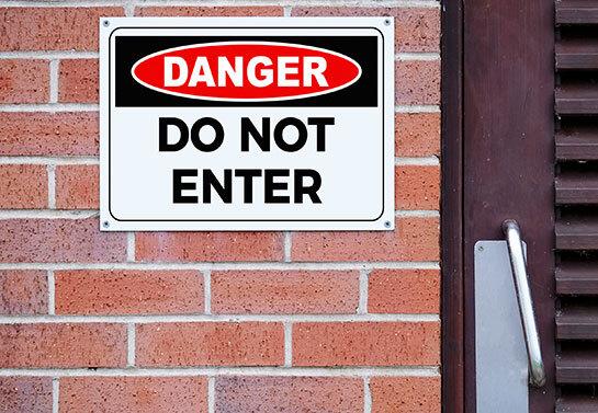 Danger Don't Enter workplace safety warning