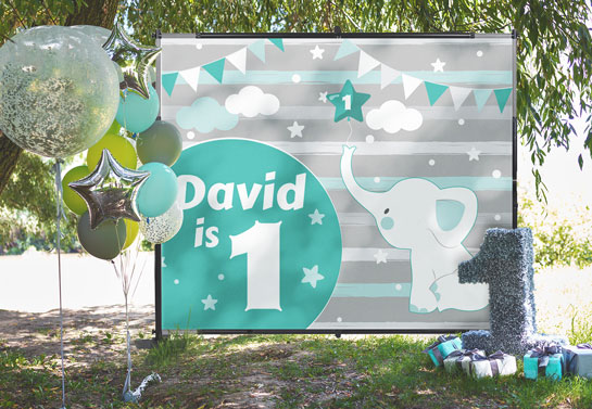David is 1 outdoor party decoration idea