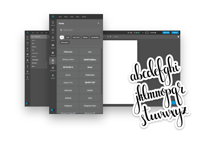 Various font options