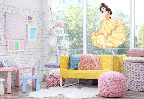 Disney princess kid's room window decor