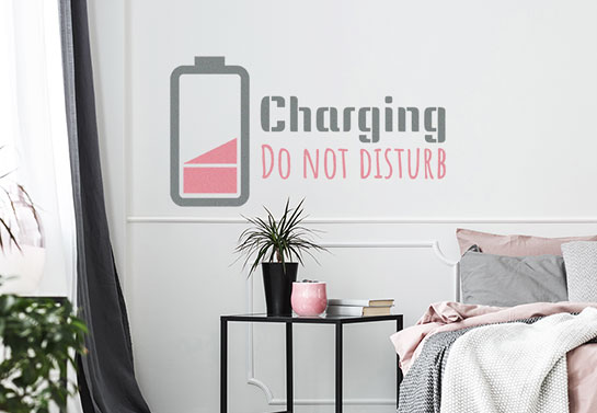 Do Not Disturb funny wall decal for bedroom