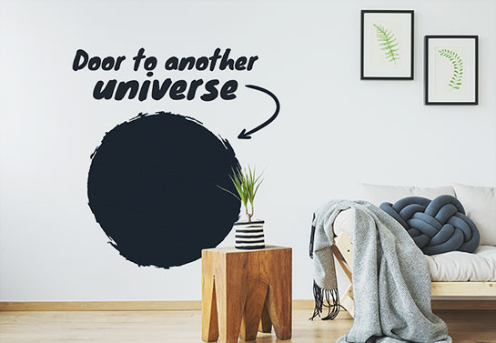 Door to another universe crazy wall sticker