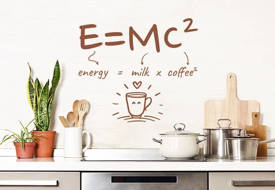 funny kitchen wall decal for coffee lovers