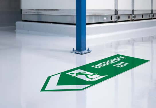 Emergency Exit workplace safety sign type