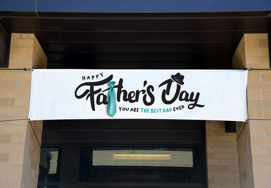 Happy Father's Day celebration decor banner idea