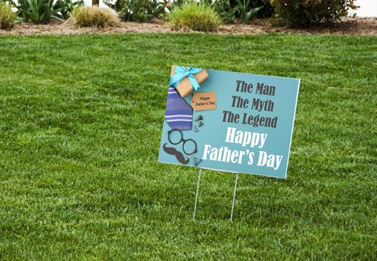 Happy Father's Day yard decor idea