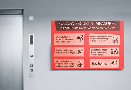 Follow Security Measures safety sign