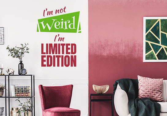 Limited edition weird wall sticker