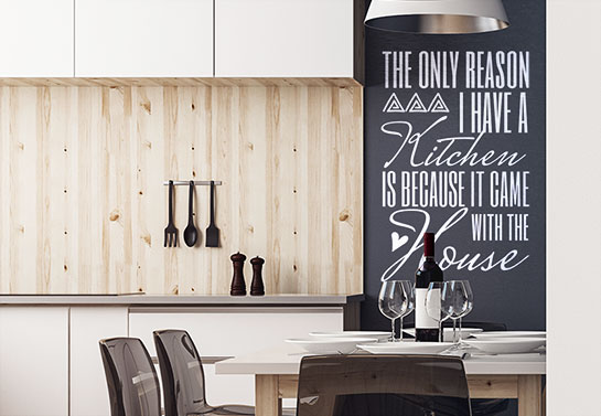 funny wall decal for kitchen