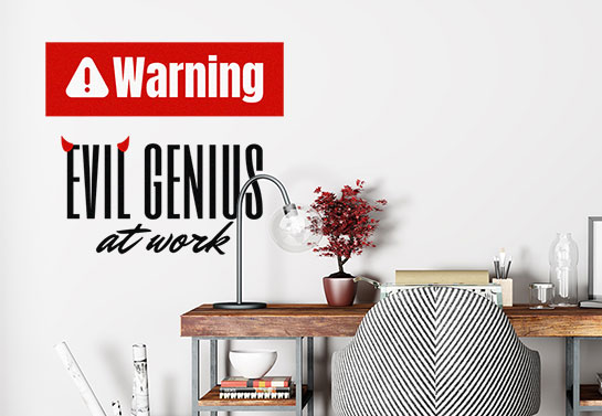 Funny Warning home office wall sticker