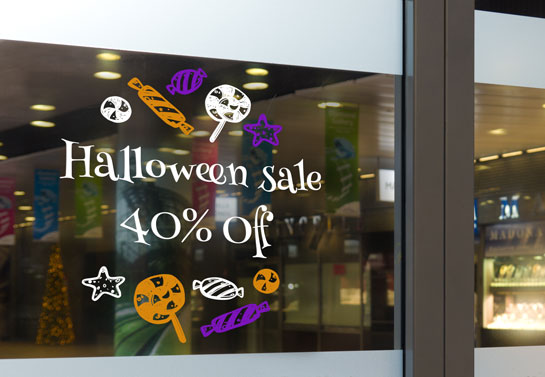 Halloween Sale shop window idea
