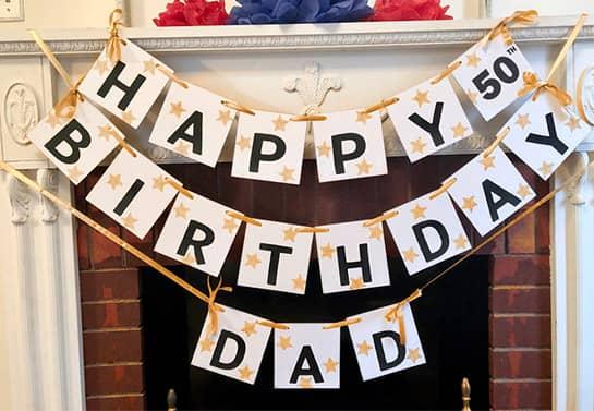 Happy 50Th Birthday party decor idea