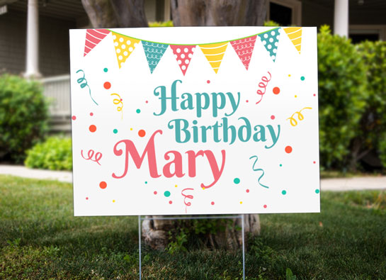 Happy Birthday Mary party decorating ideas for outside