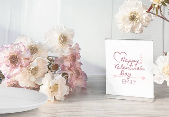 Happy Valentine's Day Emily valentine table decoration idea