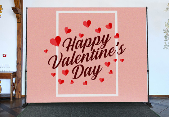 Happy Valentine's Day backdrop idea