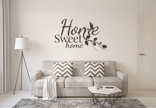 Home Sweet Home living room wall decor idea