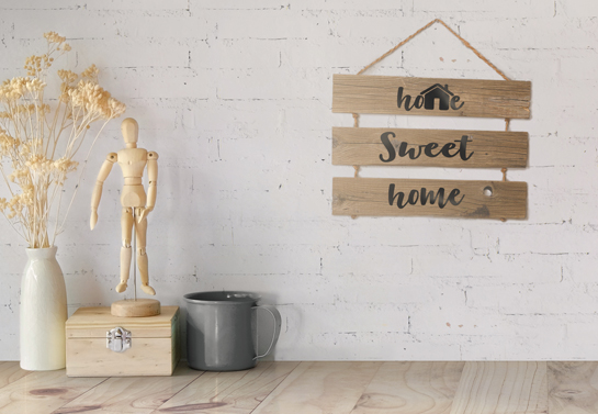 Home Sweet Home pallet decor idea