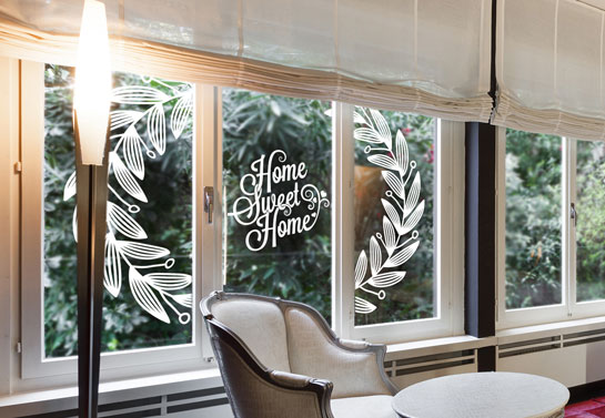 Home Sweet Home cute window decal