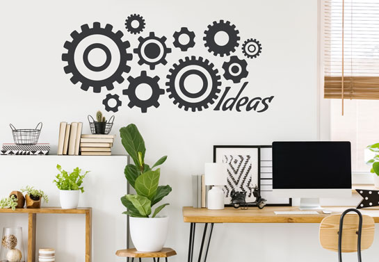 Ideas cool home office decor for wall