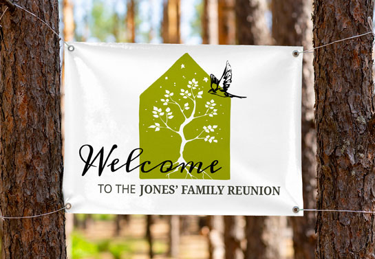 family reunion welcoming banner idea with a beautiful design