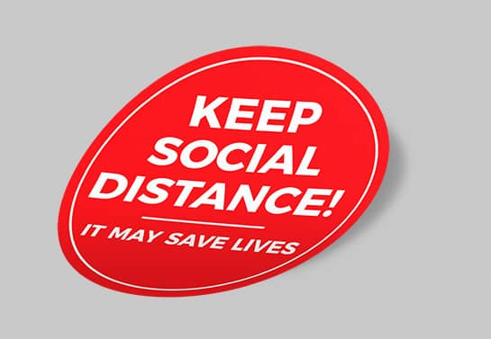 Keep Social Distance safety sign