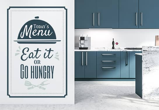 menu-shaped funny kitchen wall decal