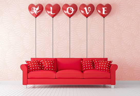 LOVE balloons valentine decoration idea
