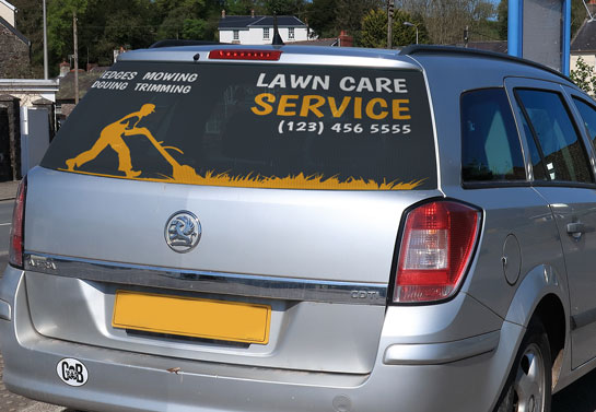 Lawn Care Service cool rear window decal for business