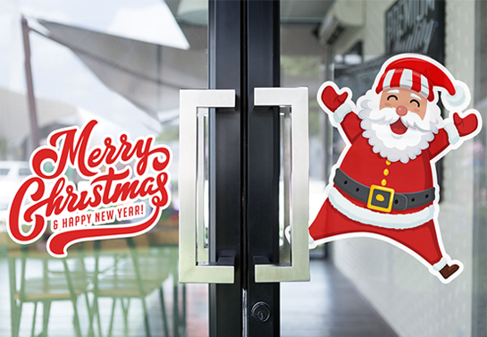 Merry Christmas & Happy New Year office door decoration idea