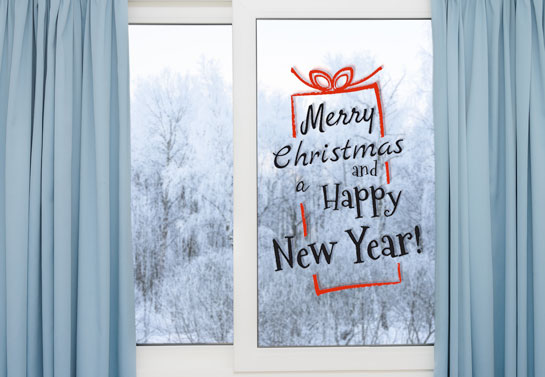 Merry Christmas window decal for decorating