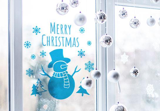 Merry Christmas  office window decor for Christmas